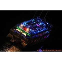 Alanya Disco Boat Tour| Night Party Boat Tour | Starcraft Boat Tour